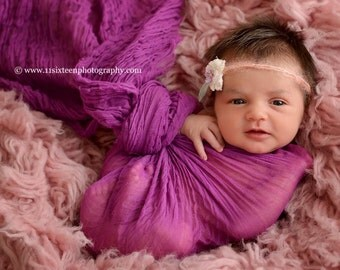 Orchid Cheesecloth Baby Wrap Cheese Cloth Newborn Photography Prop