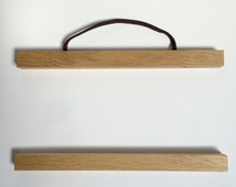 Oak Poster Hanger | Wood Picture Hanger | Wall Hanging