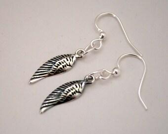 Angel Wing Earrings, Sterling Silver, Feather Earrings, Boho Angel, Free Spirit, Love, Dreams, Angel Wings, Guardian Angel, Feathers