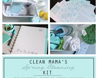 CLEAN - Clean Mama's SPRING Cleaning Kit - 10 documents - INSTANT Download