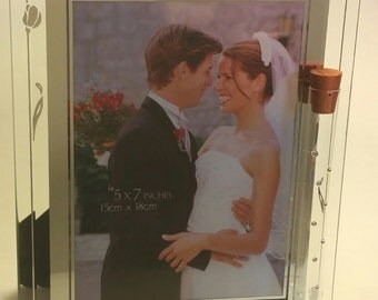 Jewish Wedding Picture Frame - Holds Shards Of Glass Broken At Wedding Ceremony