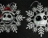 sliver snowflake frozen jack ornaments
