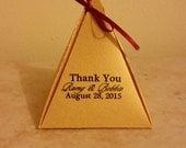 Pyramid Favor Box with Tag for Bobbie