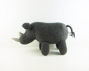Hand Knit Rhino- Medium