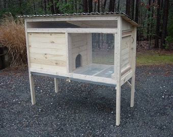 Woodworking Plans for a 5 ft. Rabbit Hutch - Illustrated with Photos!