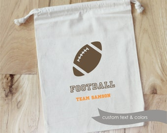FOOTBALL - Personalized Favor Bags - Set of 10 - Birthday - FOOTBALL PARTY- team favors