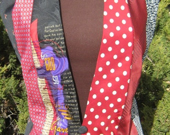 Women's Tie Vest in Red and Black