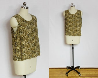 SALE - Vintage cheetah print silk tank top