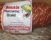 Macrame Braid...Pepperell Bonnie Cord...100% Polypropylene...Rusty Orange Brown Ecru