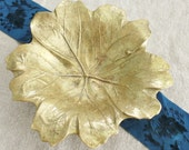 Vintage Brass Leaf Dish