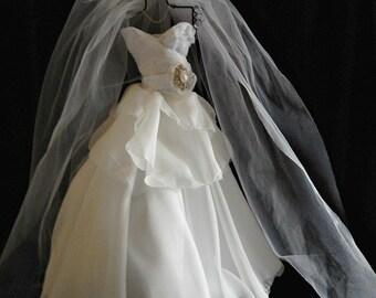 Quinceanera  Bridal  shower centerpiece wedding dress  reception centerpiece  bridal bouquetsl, rhinestones