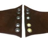 "Robyn Custom Order 6"" Dk Brown Sueded Leather /Elastic Corset Belt"