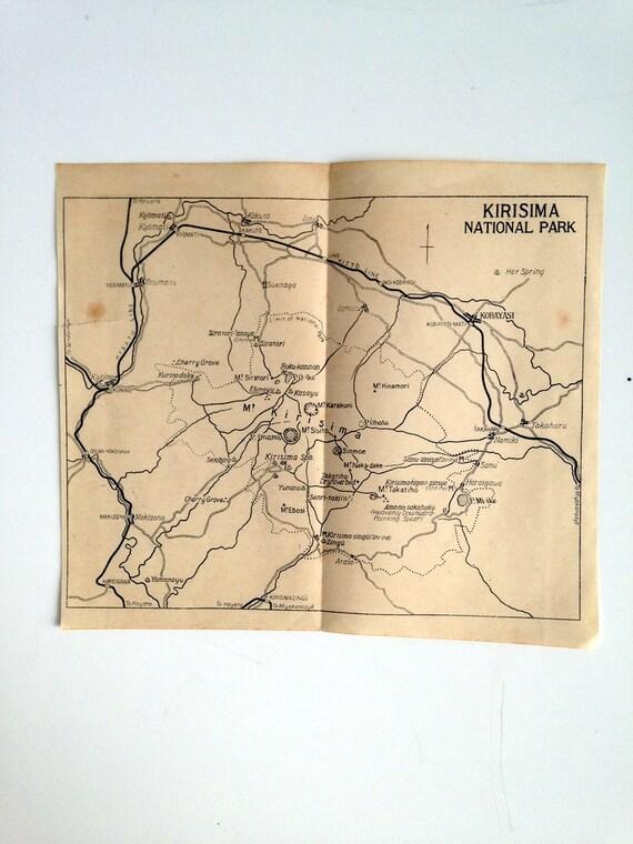 Japanese Tourism  Map Prior to Bombing of Pearl Harbor - Kirisima National Park