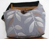 BLUE CROSSBODY BAG - Oversized Bag - Large Bag - Hobo Bag - Bohemian Bag - Crossbody Bag - Vegan Bag - Hobo Purse - Cross Shoulder Bag