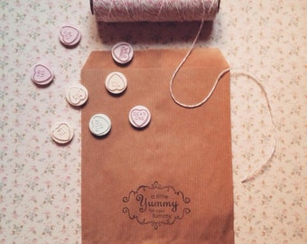 Sweet/candy/treat paper bags ~Handstamped