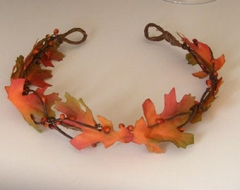 Fall Wedding Tiara Wreath