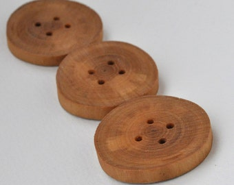 tree branch buttons  •  large  birch wooden buttons •   handcrafted  wood buttons