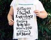 """Let Go to Move Forward Inspirational Quote Handlettering 11""""x17"""" Poster Print"""