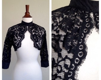 Vintage Noir Lace top 40s