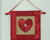 Valentine Heart Wall Quilt - 4 Patch Heart Valentine's Day Decoration