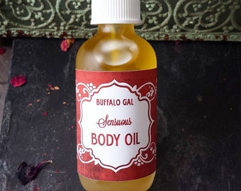 Organic Body Oil // SENSUOUS // toxin free moisture for Bath, Body & Massage // Organic  Vegan  Cruelty Free  Natural Skincare