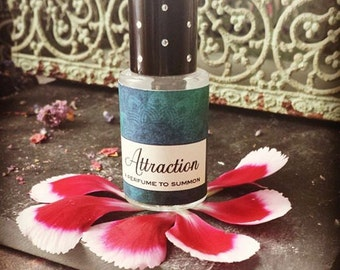 ATTRACTION Perfume Oil  // A Perfume to SUMMON // Attract Abundance Manifest Prosperity Wishes Come True / Sacred Resins Herbs Flowers