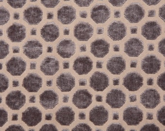 Robert Allen Velvet Geo Grey decorative pillow cover