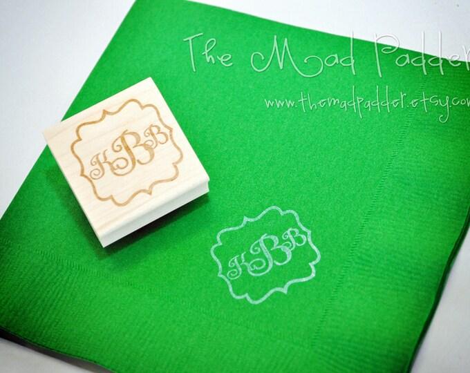 Monogram Wooden Stamp - Custom Made