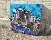 Downtown Columbus Landscape Painting No. 01 on Canvas 24 x 24