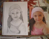 8 x 10 inch  Pencil Portrait From Your Photographs (A4)