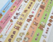 Cute Teddy - Rilakkuma -  Origami Lucky Star Folding Paper - pack of 160 strips