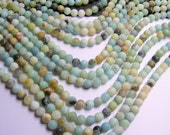 Amazonite - 8mm round beads -1 full strand - matte - 48 beads - RFG208