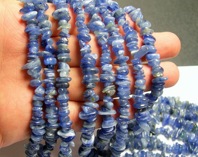 Kyanite gemstone - chip stone - disc - bead - 16 inch strand - A quality - PSC69