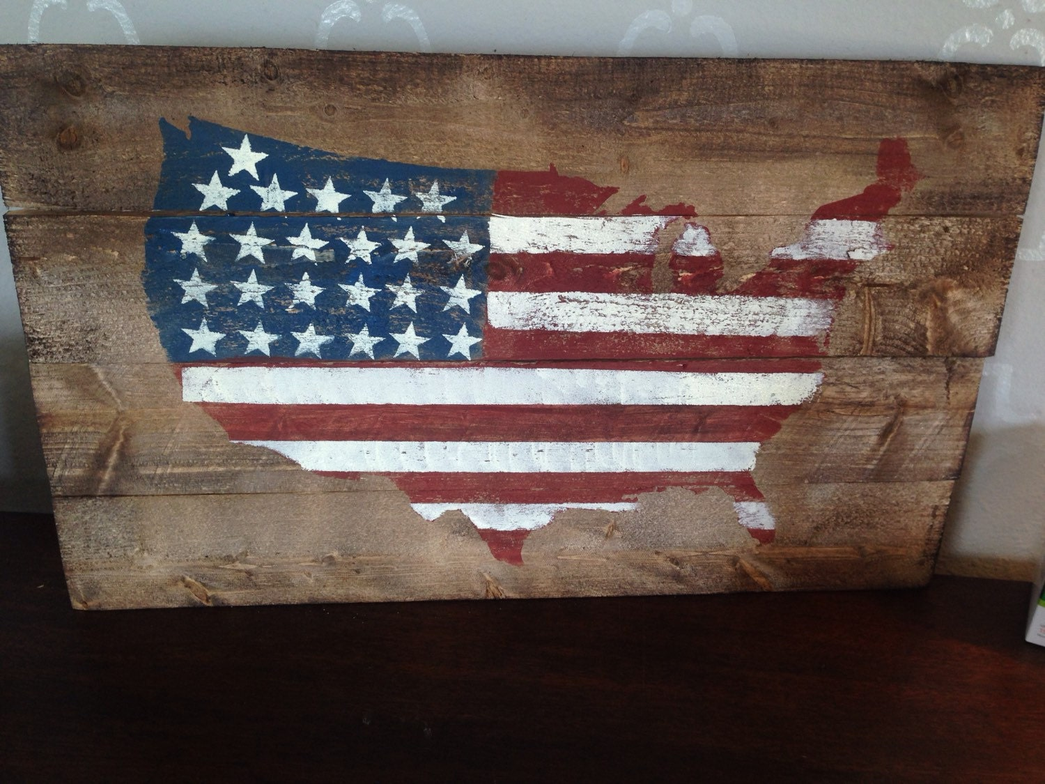American flag decor united states decor patriotic by girlinair for American flag decoration