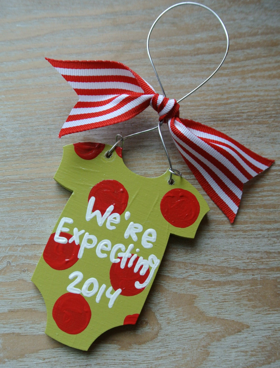 We're Expecting Baby Christmas Ornament We're