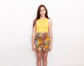Dead stock 90s Vintage Shorts high waist Size S