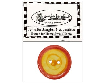 Jennifer Jangles Button Necessities Pack Home Sweet Home Yellow Orange Large 2 Hole Button