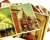 The Moscow Kremlin. 16 pcs. of colored cards. Made in 1950th.