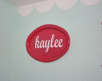 Personalized custom sign for Baby Nursery, kids bedroom, Living Room or Wedding.  Choose your word & colors.  Baby gift, wedding gift