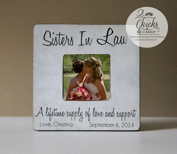Sister In Law Picture Frame Personalized By 2ChicksAndABasket
