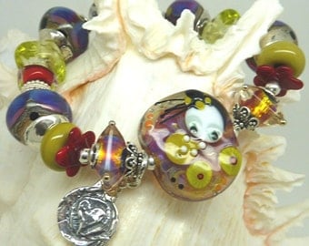 Lampwork Bracelet TOUCH OF WHIMSY