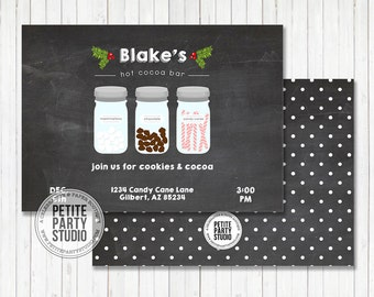Hot Cocoa & Cookies Holiday Party Printable Party Invitation - Birthday or Baby Shower - Petite Party Studio