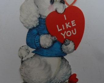 Vintage Valentine Little Puppy Sweet 1950's  or Earlier Retro