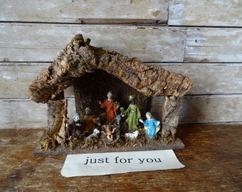 Vintage Christmas  Nativity  Sweet Made in Italy