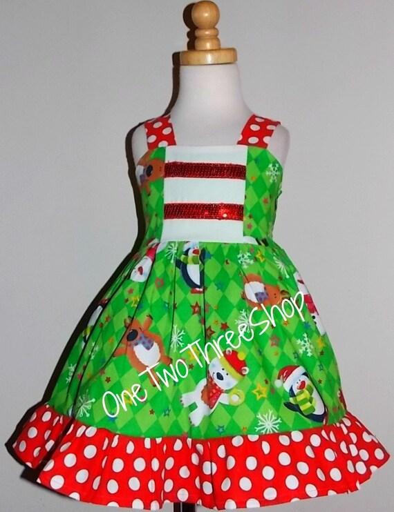 Custom boutique clothing christmas sassy girl dress ready to ship