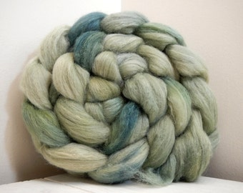 February Fields 1 Handpainted Polwarth/Silk 60/40 Top Spinning Fiber 4 oz