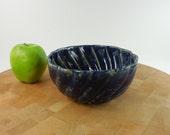 "Bennington Potters Pottery Stoneware - Blue Bundt Cake Bakeware Pan - 6-5/8"""