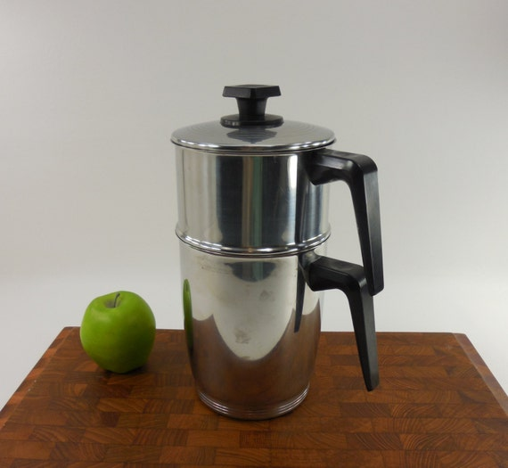Drip Coffee Maker Parts : REMA Stove Top Drip Coffee Maker Pot Stainless