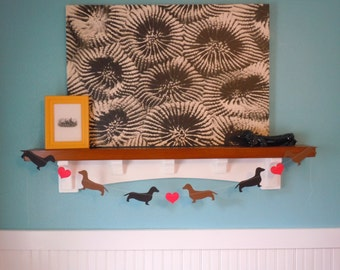 Dachshund Love Paper Banner - Valentine's Day Decor - Choose Your Colors