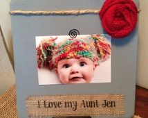 Personalized aunt picture frame new aunt gift baby shower aunt birthday new mom aunt to be gift from niece nephew frame custom handmade